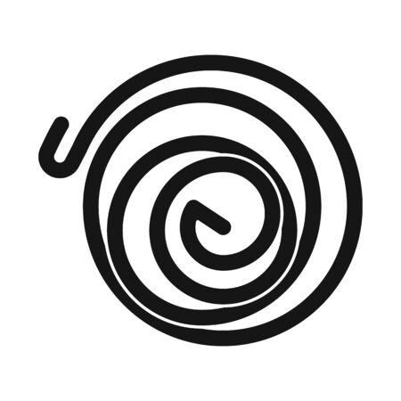 Vector illustration of coil and detail icon. Graphic of coil and metal stock vector illustration.