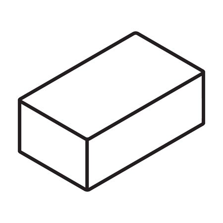 Block of concrete isometric vector icon.Line vector icon isolated on white background block of concrete.