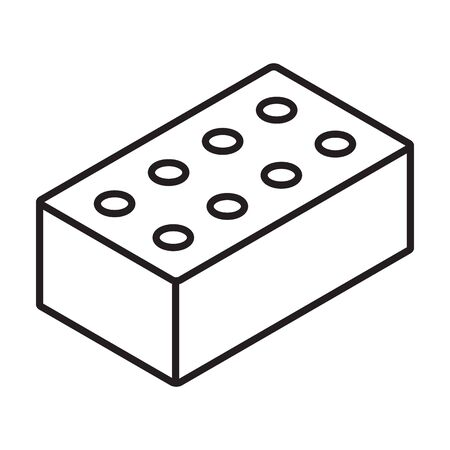 Clay brick isometric vector icon.Line vector icon isolated on white background clay.