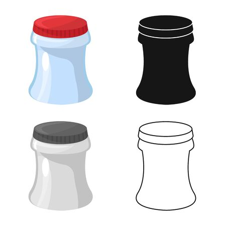 Isolated object of container and soda icon. Set of container and nonalcoholic vector icon for stock. Illustration