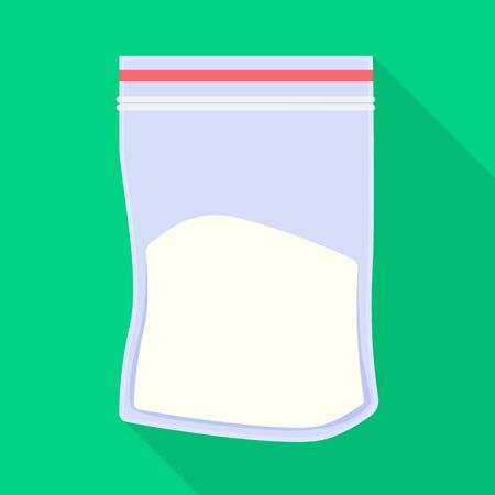 Isolated object of cocaine and package symbol. Graphic of cocaine and powder vector icon for stock.