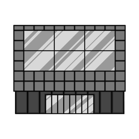 Isolated object of store and window. Collection of store and office stock symbol for web.