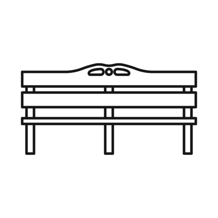 Isolated object of bench and furniture sign. Graphic of bench and seat vector icon for stock.