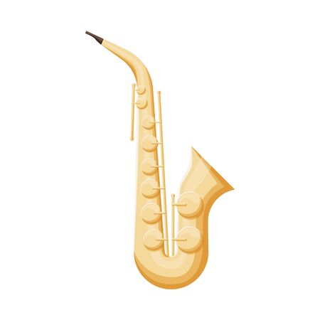 Vector design of saxophone and jazz symbol. Graphic of saxophone and music vector icon for stock. Stock Illustratie