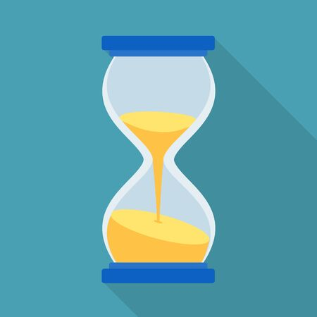 Isolated object of timepieces and sand glass. Web element of timepieces and minute stock symbol for web.