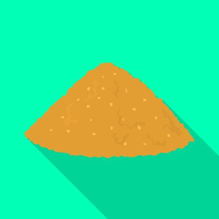 Isolated object of heap and sugar icon. Graphic of heap and cane vector icon for stock. Illustration