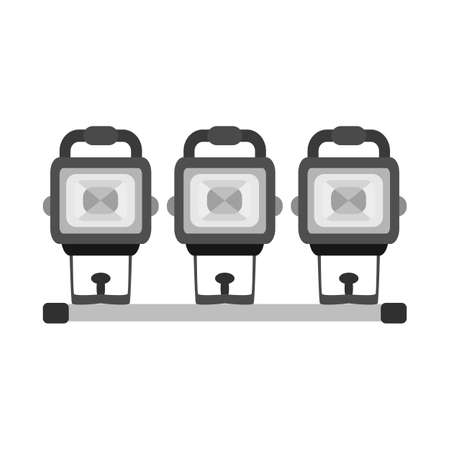 Vector design of spotlight and projector icon. Graphic of spotlight and video stock vector illustration.