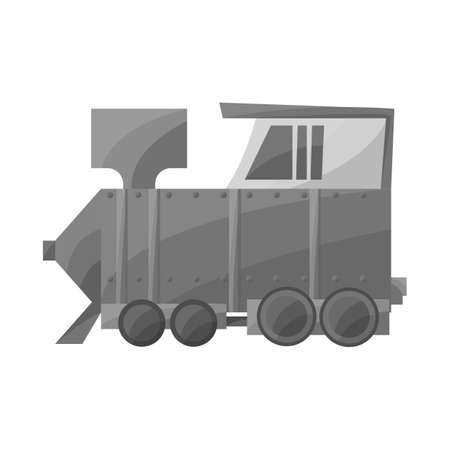 Vector design of train and old logo. Web element of train and steam stock symbol for web.
