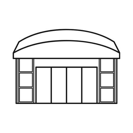 Vector design of emporium and shop logo. Collection of emporium and window stock vector illustration.