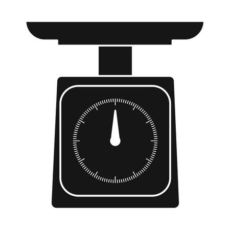 Vector illustration of scale and electronic sign. Web element of scale and kilogram vector icon for stock. Ilustração