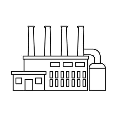 Isolated object of factory and nuclear icon. Collection of factory and energy stock vector illustration.
