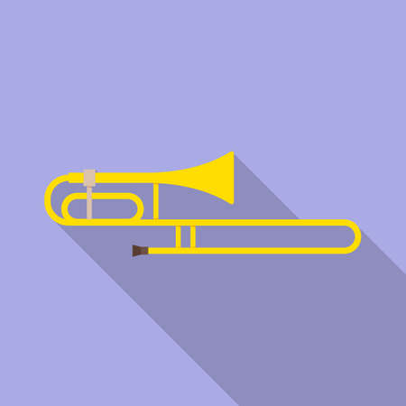 Isolated object of cornet and pipe symbol. Graphic of cornet and tuba stock symbol for web. Ilustração