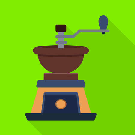 Vector illustration of coffee and grinder logo. Web element of coffee and old stock symbol for web.
