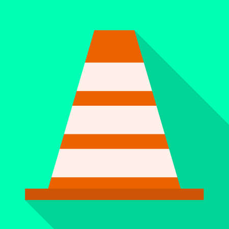 Vector design of block and road sign. Graphic of block and cone stock symbol for web.