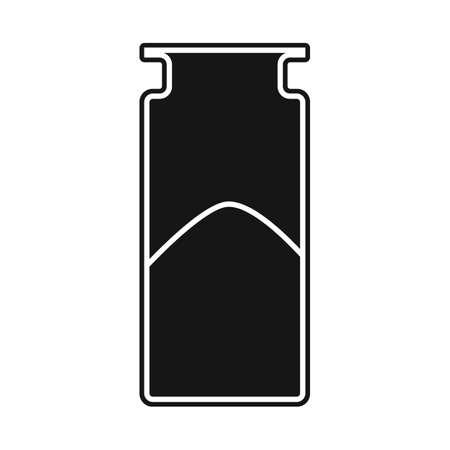 Vector design of bottle and cocain logo. Web element of bottle and medicine stock vector illustration.