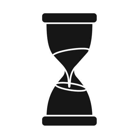 Vector design of sandglass and timer sign. Web element of sandglass and minute stock vector illustration. Illustration