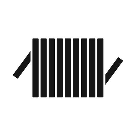 Vector illustration of detail and coil symbol. Web element of detail and energy stock symbol for web.