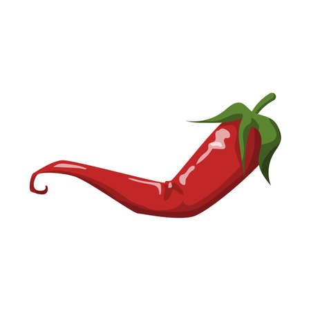 Vector illustration of pepper and hot icon. Graphic of pepper and chili vector icon for stock.