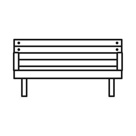Vector illustration of bench and furniture sign. Web element of bench and seat vector icon for stock.