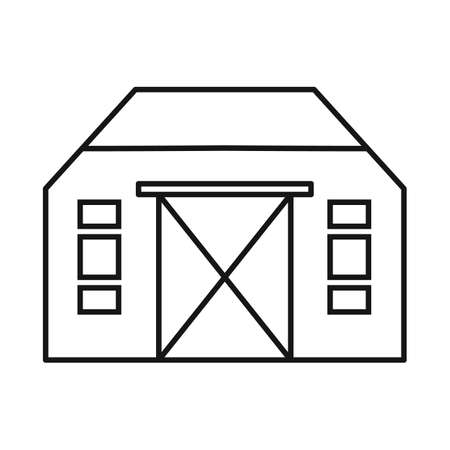 Isolated object of hangar and logistic icon. Graphic of hangar and garage stock vector illustration.