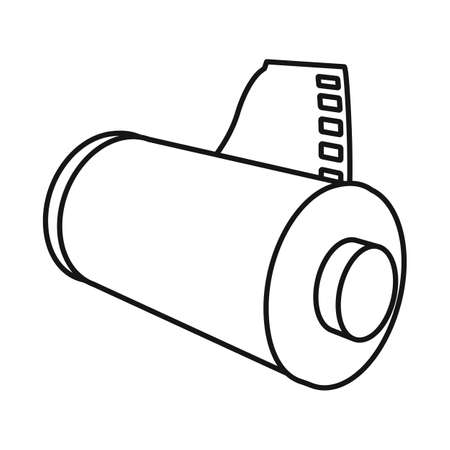 Vector design of tape and photo icon. Graphic of tape and roll stock vector illustration.