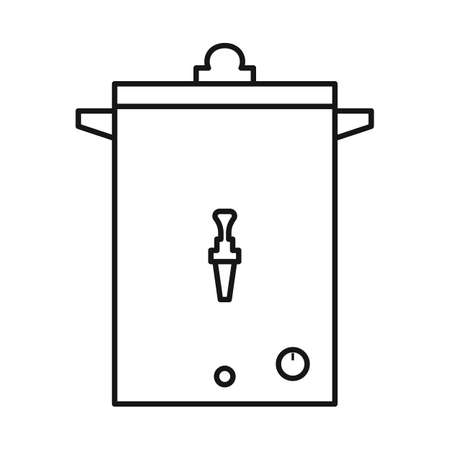 Vector design of heater and boiler symbol. Graphic of heater and device vector icon for stock.