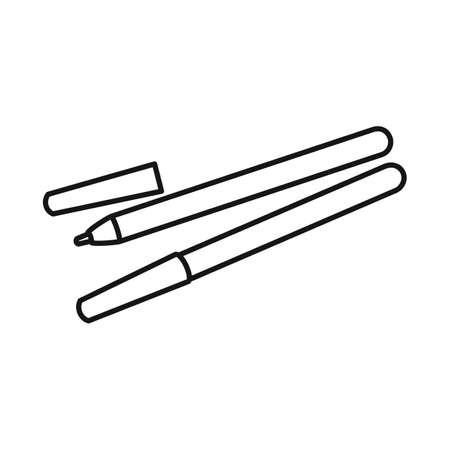 Vector illustration of eyeliner and contour logo. Graphic of eyeliner and pencil stock vector illustration. Illustration