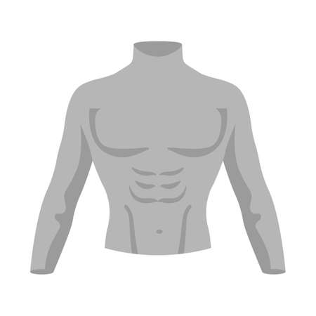 Vector design of dummy and torso sign. Web element of dummy and male vector icon for stock.