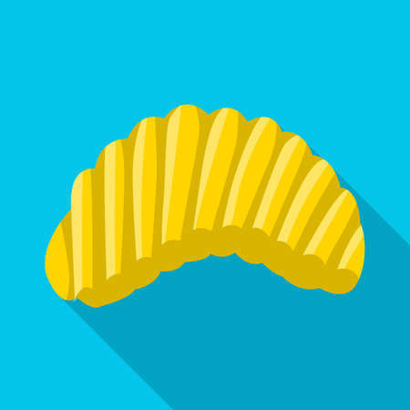 Vector illustration of chip and fluted icon. Web element of chip and crunchy vector icon for stock.