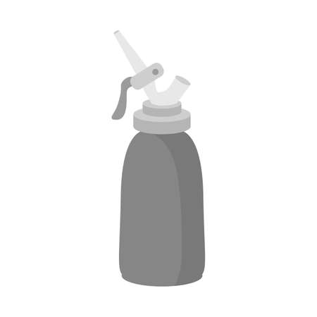 Isolated object of bottle and cream logo. Graphic of bottle and cake vector icon for stock.