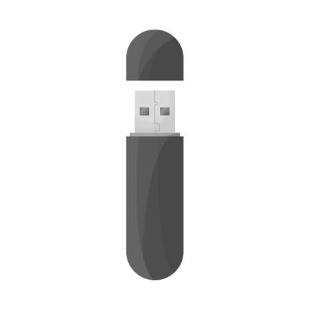 Vector illustration of usb and memory logo. Web element of usb and device stock symbol for web.