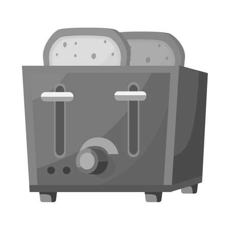 Vector design of toaster and toast symbol. Web element of toaster and oven stock vector illustration.