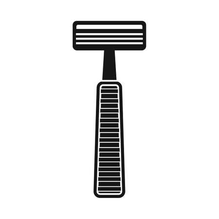 Isolated object of shaver and safety sign. Web element of shaver and shave vector icon for stock.