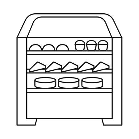 Vector design of oven and kitchen icon. Collection of oven and food stock vector illustration. Banco de Imagens - 151779955