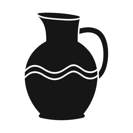 Isolated object of jug and clay logo. Web element of jug and ceramic stock symbol for web. Ilustração