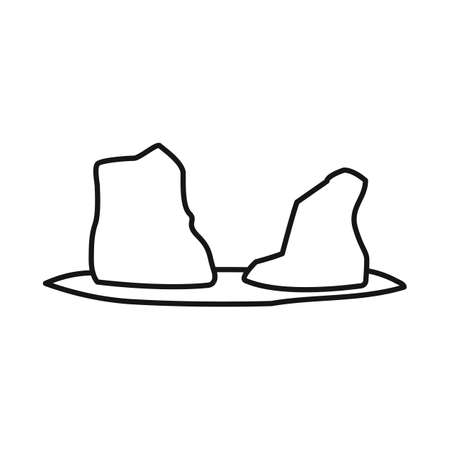 Vector design of rock and bay symbol. Collection of rock and vietnamese stock symbol for web. Illusztráció
