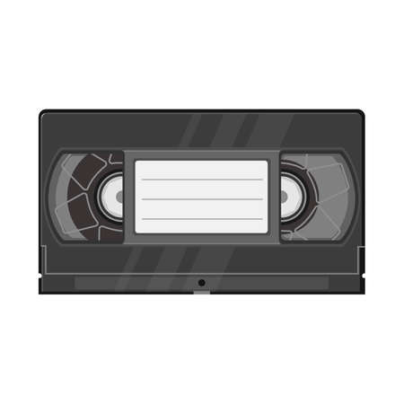 Isolated object of videotape and videocassette logo. Graphic of videotape and reel vector icon for stock. Banque d'images - 152253026