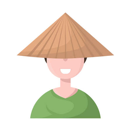 Vector illustration of vietnamese and portrait icon. Set of vietnamese and costume stock symbol for web.