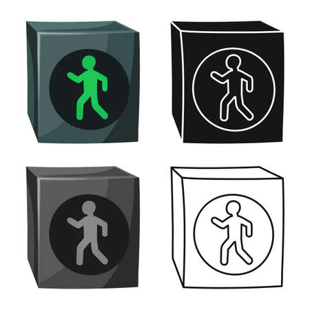 Vector illustration of stoplight and signal logo. Graphic of stoplight and svetofor stock symbol for web.