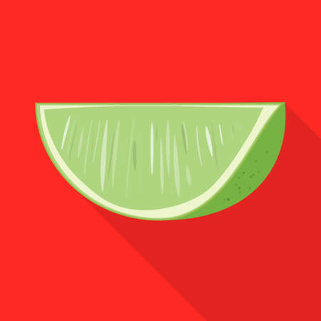 Vector illustration of green and lemon sign. Graphic of green and lime stock symbol for web.