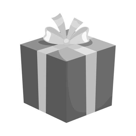 Isolated object of gift and box icon. Web element of gift and surprise stock symbol for web.