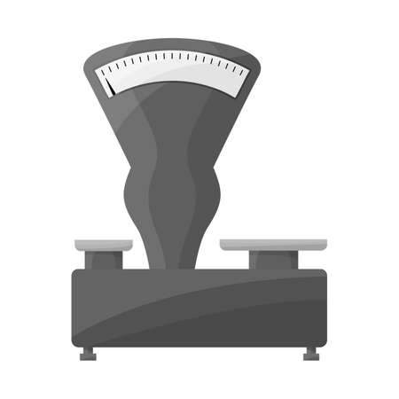 Vector illustration of scales and mechanical icon. Graphic of scales and kitchenware vector icon for stock.