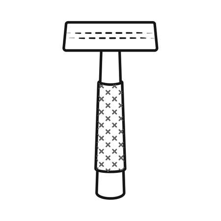 Vector illustration of razor and safety icon. Set of razor and grooming stock vector illustration.