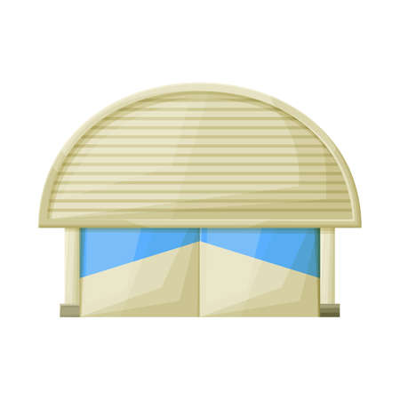 Vector design of warehouse and awning icon. Graphic of warehouse and storage stock symbol for web. Иллюстрация