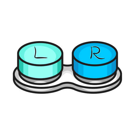 Isolated object of container and lenses icon. Web element of container and contact vector icon for stock.