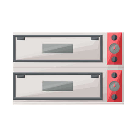 Vector illustration of oven and kitchenware icon. Web element of oven and appliances stock symbol for web.