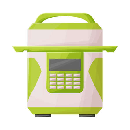Vector design of multicooker and cooker icon. Web element of multicooker and appliance stock vector illustration.