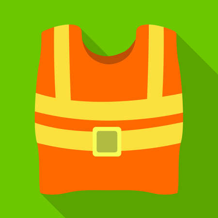 Vector design of vest and road symbol. Web element of vest and uniform stock vector illustration. Illustration