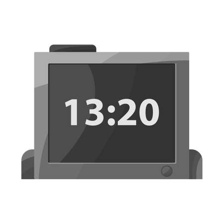 Vector illustration of clock and timer sign. Web element of clock and reminder stock symbol for web.