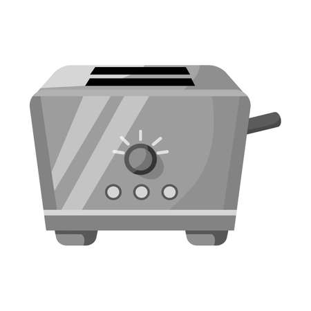 Vector design of toaster and menu icon. Web element of toaster and instrument stock vector illustration.